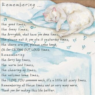Cat Condolence - Remember Cat