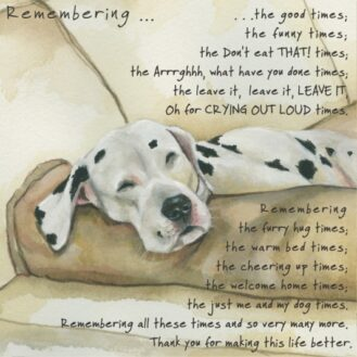 Dog Condolence - Remember Dog