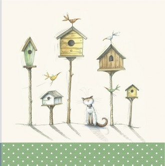 Cat bird huts