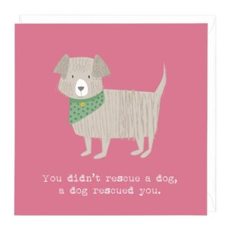 A dog rescued you